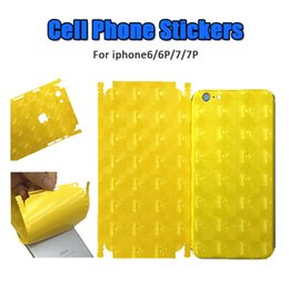 Wholesale Glitter Stickers For Phones - Cell Phone Stickers 3D Full Body Glitter Waterproof Back Screen Protector Colorful Skins Cover For Iphone 7 7Plus 6 6Plus