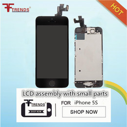 Wholesale Lcd Touch Screen Flex Cable - for iPhone 5 5C 5S SE LCD Display & Touch Screen Digitizer Assembly with Home Button and Front Camera Flex Cable & Earpiece 100% Test