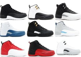 Wholesale Free Up Games - Wholesale 2017 Retro XII FLU GAME THE MASTER wool FRENCH BLUE men basketball shoes with originals box size eur 41-47 free shipping