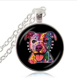 Wholesale Christmas Accessories For Dogs - A--131 Pit Bull Dog Necklace American Pitbull Terrier Pet Puppy Rescue Pendant Bulldog Jewelry for Animal Lover Accessories