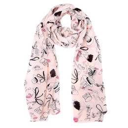 Wholesale Wholesale Cape Scarfs - Wholesale- Wholesale Chiffon Scarf Clothing Accessories Lipstick Printing Women Beach Shawls And ScarvesPonchos And Capes #2913