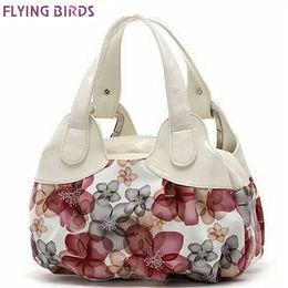 Wholesale Hobo Tote Pattern - Wholesale- FLYING BIRDS! women leather handbags Popular flower pattern Women handbags shoulder bag ladies women's bags bolsas tote SH462