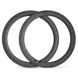 Wholesale Carbon Clincher Light - Carbon rim for road bike rim Clincher 60mm deep 25mm width U-shape road disc brake bicycle rims light bike