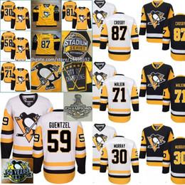 Wholesale Murray S - Mens 2017 Pittsburgh Penguins Stanley Cup Champions 59 Jake Guentzel Sidney Crosby Matt Murray Kris Letang Evgeni Malkin Phil Kessel Jerseys