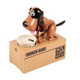 Wholesale Battery Operated Toy Animals - My Dog Piggy Bank Robotic Coin Munching Toy Money Box Cute Battery Operated Doggy Coin Bank