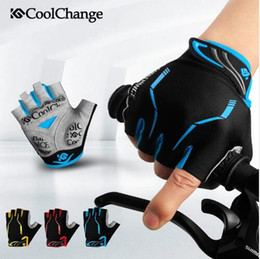 Wholesale Mens Gloves Xl - Anti-shock Gel Summer MTB Half Finger Cycling Gloves Mens Breathable Outdoor Professional Road Gloves Mountain Nylon Bike Bicycle Gloves