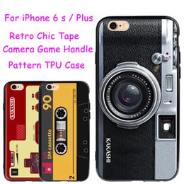 Wholesale Iphone Retro Game - 5 Style Retro Tape Camera Game Handle Pattern for iPhone 6 6s   Plus Case Shockproof 360 Protective Cover Back Shell with Lanyard