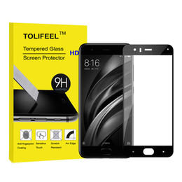 Wholesale Curve Body - 9H Nano-Coated Film Full Cover Tempered Glass Screen Protector For Xiaomi Mi6 Mi 6 Protective Glass Film + Retail Package