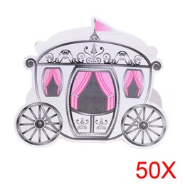 Wholesale Cinderella Carriage Candy Boxes - 50pcs Europe Styles Cinderella Enchanted Carriage Marriage Wedding Favor Boxes Gift Candy Box Sale HG99