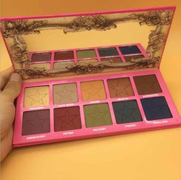 Wholesale Ree Shipping - 2017 NEW JEFF-REE ST-AR AND-ROGYNY Eyeshadow palette makeup palettes cosmetics matte pressed powder Highlighter retail free shipping