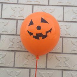 Wholesale Wholesale Pirate Party Supplies - 100pcs   Lot Halloween Decorative Balloons Pumpkin Prop Decor Gift Balls Party Favor Latex Balloon Christmas Decoration Ornament Pirates