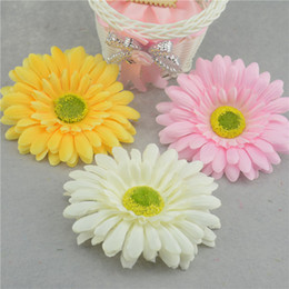 Wholesale Small Flower Car - Wholesale-5pcs   lot 8cm small artificial cloth daisy artificial flowers party supplies wedding car decoration home handmade flowers