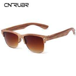 Wholesale European Sunglasses - Wholesale-CURNBR European Fashionall-Match Wood Sunglasses Female Sunglasses Vintage Retro Designer Fashion Sunglass Men Retro Glasses