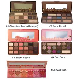 Wholesale natural smell - Best Quality !!!Brand Makeup Palette Sweet Peach Eye Shadow Chocolate Bar Eyeshadow with Bar semi Sweet Bon bon Smell Palette