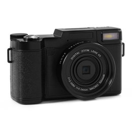 Wholesale Mini Wide Angle Cameras - 5pcs 2017 new 24MP HD Half-DSLR Professional Digital Cameras with 4x Telephoto,Fisheye & Wide Angle Lens Camera Macro HD Camera