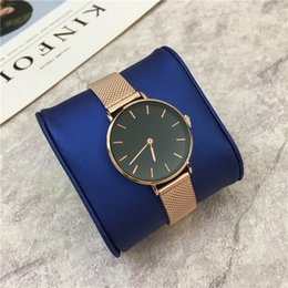 Wholesale Gold Mesh Buckle Bracelet - Luxury Watches New Style Women Watch Stainless steel Bracelet Lady Quartz High Quality Gifts for girls thin mesh belt watches Free shipping