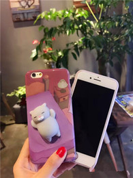 Wholesale Kitty Cell Iphone Case - Hot Cell Cute Panda and Kitty Press Kneading Phone Case Reduced Pressure Anti-Fall For iphone 6 6s 6sp 7 7p
