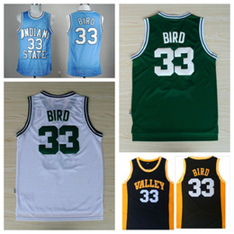 Wholesale Indiana State Sycamores Larry Bird College Basketball Jerseys High School Larry Bird Jerseys New Valley Baby Blue Stitched Shirts