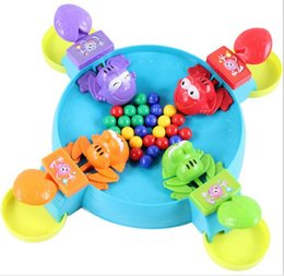 Wholesale Crazy Baby Toys - Feeding Foggies Crazy Frog To Eat Beans For the ball with beads Baby Toys Baby kids Interaction Educational Feeding Small Frog Child Toy