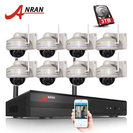 Wholesale Ip Cameras Dome - ANRAN 8CH Wifi NVR Kit 8PCS H.264 1080P HD Dome 30 IR Wireless Wifi IP Camera 2MP Home Security CCTV Vidoe Surveillance Camera System