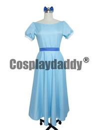 Wholesale Wendy Dress - Film Peter pan wendy Rachael Cosplay costume party dress Women Long Dress