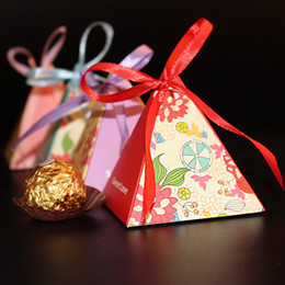 Wholesale Candy Box Pyramids - Rustic Pyramid Candy Box valentines weddding Favor Triangle Boxes Favor Gift Gorgeous Gift Box- An Elegant Gift for Your Loved Ones