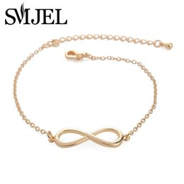 Wholesale Couples Jewelry Pc - SMJEL New Fashion Jewelry Infinity Bracelet for Women Eight shape Couple Bangles Bracelets 10 PCS-B003