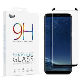 Wholesale Galaxy Note 3d Cases - Case Friendly for Samsung Galaxy S8 Plus Note 8 Screen Protector Tempered Glass 3D Curved Note8 Film Full Coverage