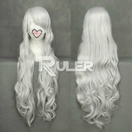Wholesale Long White Wig Curly - Long Curly angel sanctuary-Rosiel Sliver White Anime Cosplay Party Wig Hair