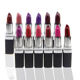 Wholesale Wholesale Price Grapes - Qibest Vampire Style Lipstick Masquerade Comestic 12 color Matte Lipstick Grape Purple Dark Black wholesales price free shipping AC290049