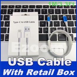 Wholesale Generation C - 100pcs lot 7 generations With retail package A++++ Original OEM Quality 1m 3ft Type C White USB Data Sync Charger Cable