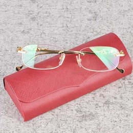 Wholesale Classic Metal Works - HOT Prescription Eyeglasses Optics Glasses High Quality Metal Wood Legs Frame Brand Designer Fashionable Glasses With Eyeglasses Box