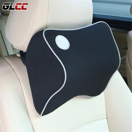 Wholesale Fabric Car Seats - 1 PCS Car Pillow Space Memory Foam Fabric Neck Headrest Car Covers Vehicular Pillow Car Seat Cover Headrest Neck Pillow For Home