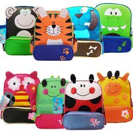 Wholesale Monkey Lovely - Kids School Bags Animal Cartoon Backpacks Baby Owl Monkey Book Bags Student Nylon Lovely Backpacks Children School Bags Gifts 8 Styles M2