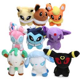 Wholesale Digimon Movie - 9styles Hot 12cm Eevee Jolteon Umbreon Flareon Espeon Vaporeon Stuffed Doll Pocket Pikachu Plush Toys Digimon World Plushie Toys