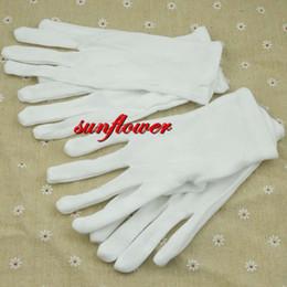 Wholesale Wedding Gloves For Men - 2017 Fashion Women Men White Gloves Prom Opera Dance Work Elastic Wrist Gloves For Adults Wedding Party Supplies