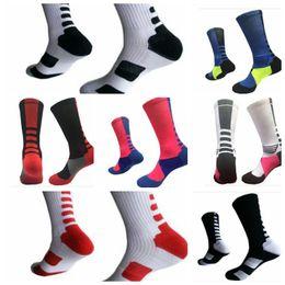 Wholesale Warm Sock Men - Basketball Socks stocking Athletic Sport Socks boys Fashion Professional Elite Basketball Socks warm sock 7 color KKA3495