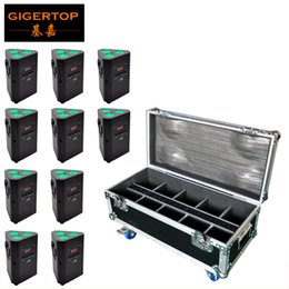 Wholesale 25 Auto - Factory Direct Sales DJ Design Uplight DMX512 Battery 3*10W RGBW LED Infrared Control Fit Truss Hanging 10in1 Charging Road Case