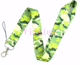 Wholesale Camouflage Lanyards - Small wholesale New 30pcs Classic Color Design Camouflage grain mobile Phone card lanyard neck straps gifts free shipping