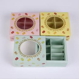 2019 torta in miniatura all'ingrosso La nuova scatola di carta del dolce di 12 * 11 * 5cm all'ingrosso con i biscotti di finestra che imballa la scatola 3 colors100pcs / lot libera il trasporto