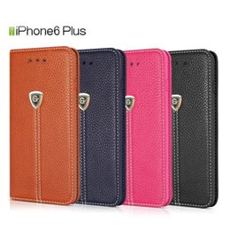Wholesale Wholesale Cell Phone Smart Covers - For iPhone 6 6S 7 8 plus PU pure colour leather wallet case Smart cell phone cover cases