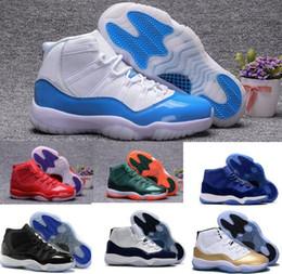 Wholesale Man Velvet Shoes - New Retro 11 Basketball Shoes Women Men Retros Space Jam 11s XI 72 Bred Blue Velvet Heiress Femme Athletics Original Sport Sneaker