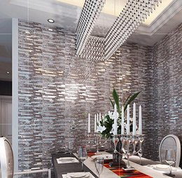 Wholesale Glass Tile Backsplash Kitchen - 1pc SAMPLE Crystal glass mosaic tile stainless steel mosaic tile decor wall mounted kitchen backsplash