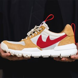 Wholesale Pu Leather Yard - With Box Tom Sachs x Craft Mars Yard 2.0 TS NASA Joint Limited Casual Sneaker Original Quality Natural Red Maple Running Shoes
