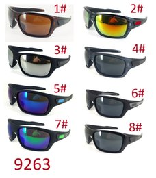 Wholesale Titanium Sunglasses Free Shipping - summer newest man Wind sunglasses Bicycle Glass NICE sports sunglasses Dazzle colour glasses driving glasses A+++ 8colors free shipping
