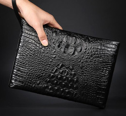 Wholesale Diamond Hand Bags - sells men bags fashionable soft sheepskin men handbag business leather mens wallet Korean style large capacity leather brand hand bag