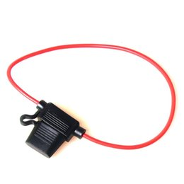Wholesale fuse auto - Car Auto Boat In-line Blade Fuse Holder Cable Heavy Duty for Car Electronics Modify Lab Solar System Circuit Blow-out Overload Protection