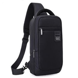 Wholesale waterproof cross body outdoor bag - Black Mens Fashion Multifunction Lightweight Waterproof Travel Hiking Outdoor Cross Body Messenger Bag Sling Chest Shoulder Backpack