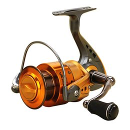 Wholesale water cnc - 13+1BB Ultra Light Fishing Reel Spinning 2000-7000 Series Salt Water Gear Ratio 5.5:1 CNC Metal Rocker Arm Sea Fishing Wheels China