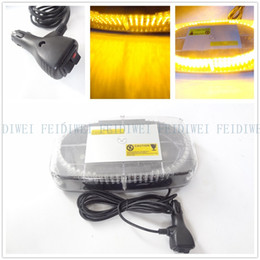 Wholesale Amber Mini Strobe Light Bar - 01022 Amber Emergency Hazard Warning LED Mini Bar Strobe Light w  Magnetic Base warning lights